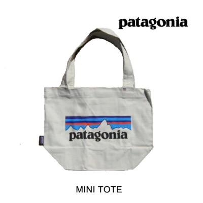 PATAGONIA パタゴニア トートバッグ MINI TOTE PLBS P-6 LOGO: BLEACHED STONE