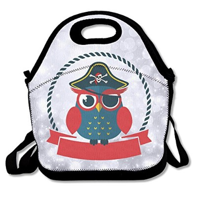 Soldier Owl Pirate Skull Lunch Bag Lunch Tote Lunch Box Handbag For Kids And Adults