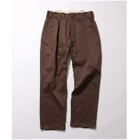 ADAM ET ROPE' 【COWDEN】1TUCK TROUSERS(ダークブラウン(20))