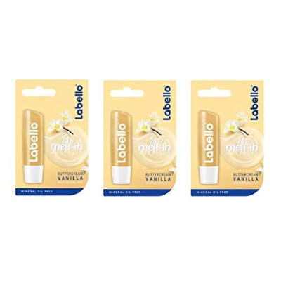 (3パック) Labello バニラバタークリームリップクリーム - (Pack of 3) Labello Vanilla Buttercream Lip Balm 4,8g/5.5ml