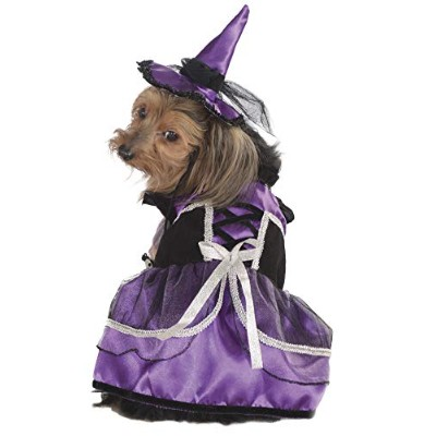 Rubie's Pet Costume, Small, Purple Witch Dress and Hat by Rubie's