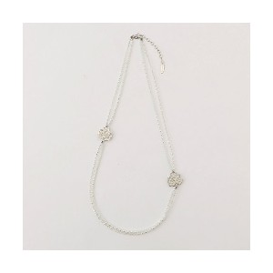 【SALE(伊勢丹)】 TO BE CHIC/TO BE CHIC  ガラスフルールネックレス(W5V54144__) シロ 【三越・伊勢丹/公式】 アクセサリー~~ネックレス・ペンダント~...