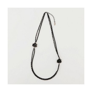 【SALE(三越)】 TO BE CHIC/TO BE CHIC  ガラスフルールネックレス(W5V54144__) クロ【三越・伊勢丹/公式】 アクセサリー~~ネックレス・ペンダント~~レディース...