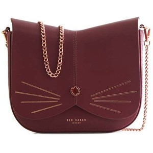 【SALE 20%OFF】テッドベーカー TED BAKER CAT ANIMAL CROSS BODY BAG (OXBLOOD) レディース