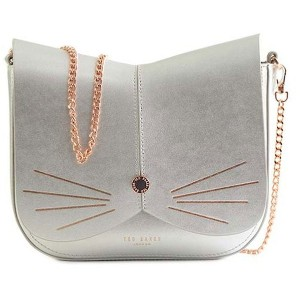 【SALE 20%OFF】テッドベーカー TED BAKER CAT ANIMAL CROSS BODY BAG (SILVER) レディース