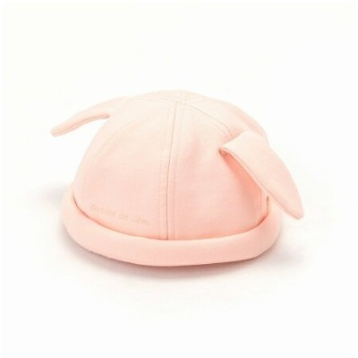 【SALE/50%OFF】COMME CA ISM 耳付 ロールキャップ コムサイズム マタニティー/ベビー ベビー用品 ピンク ホワイト