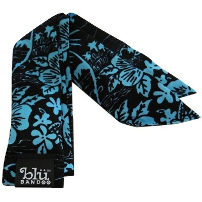 Blubandoo neck cooling scarf Coolmax scarf Cooling Neckwear 【T】Black aloha seas design prints Neck...