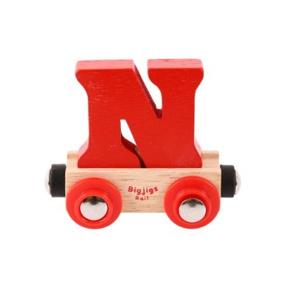 Bigjigs Rail Rail Name Letter N (Colors Vary) by Bigjigs Rail