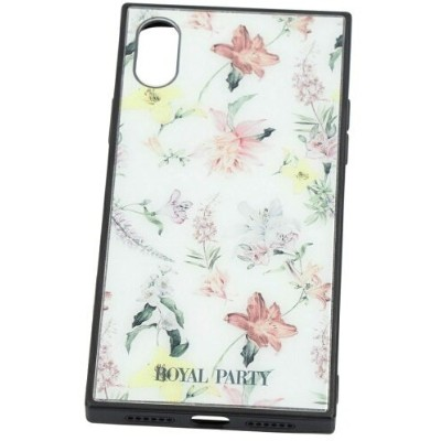 ROYALPARTY/AND THE FLOWER WHITE iphone X/Xs ギズモビーズ  ファッショングッズ