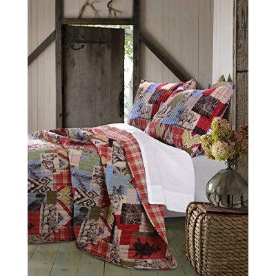 Greenland Home 2 Piece Rustic Lodge Quilt Set, Twin by Greenland Home