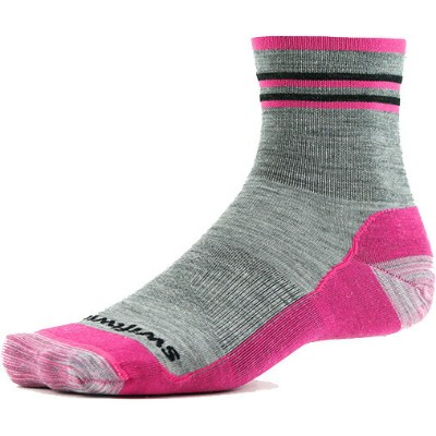 Swiftwick PURSUIT HIKE FOUR UL グレー/ピンク ソックス