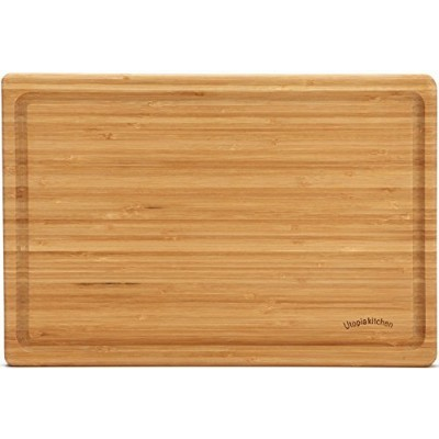Utopia Kitchen Extra Large and Thick Bamboo Cutting Board - 46cm by 30cm