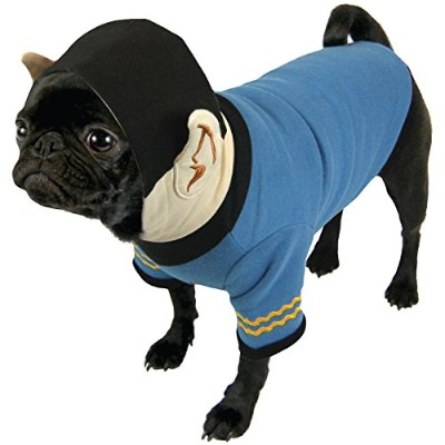 (X-Large) - Pets Supply - Dog T-Shirt - Star Trek - Spock Blue Hoodie-XL ST255