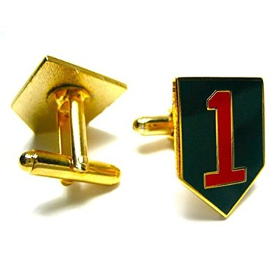 US Army 1st Infantry Division Cuff Links withギフトボックス