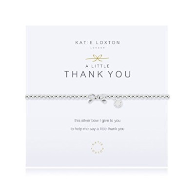 Katie Loxton – A Little Thank You – ブレスレット – シルバーBow