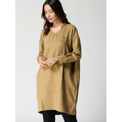 (W)suede touch wide one-piece セカンド ワンピース【送料無料】