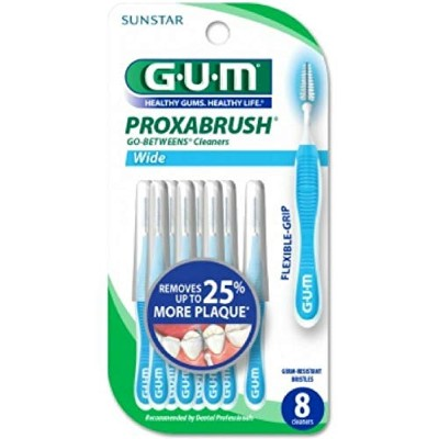 GUM Go-Betweens Proxabrush Cleaners Wide 8 Each by GUM