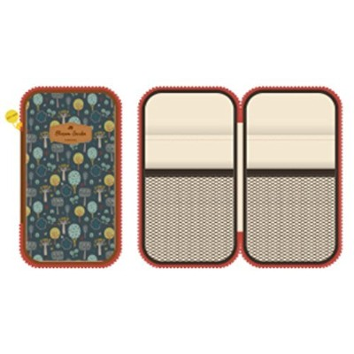 paperian Blossom Gardenマルチポーチ – Floral Patterned Multipurpose Zip Aroundポーチ ブラウン