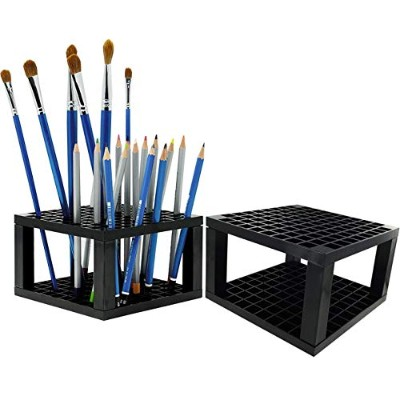 Onwon 2 Pieces Paint Brush Holder 192 Hole in Total - Pencil Pen Brush Organiser Desk Stand...