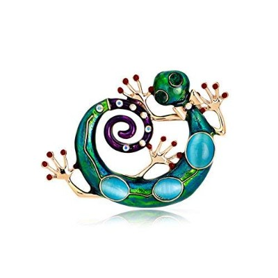 Wacky Enameled and Bejeweled Geckoピン