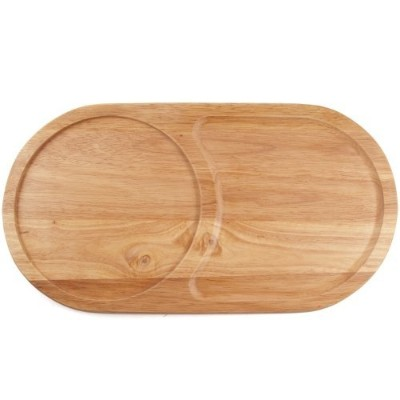 Oval Wooden Snack Serving And Cutting Board