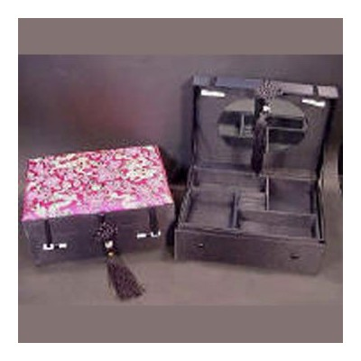 Fuchsia Silk Dragon Jewellery Box