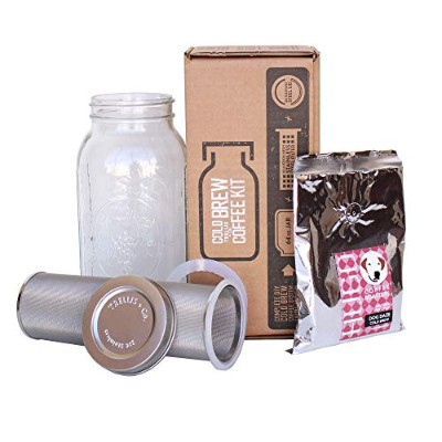 T & Co。スタウトCold Brew Coffee Makerキット – 80 Micron編みフィルタ、Stamped蓋、ガスケット、手順 – Cold Brewed Coffee/Iced...