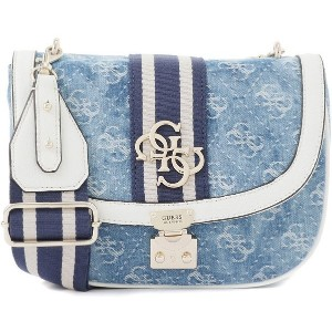 【SALE 5%OFF】ゲス GUESS GUESS VINTAGE CROSSBODY FLAP【JAPAN EXCLUSIVE ITEM】 (DENIM) レディース