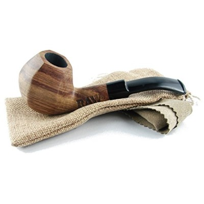 Raw Natural Pipe Uncoated Wooded Pipe Purest Natural Fibers Unrefined Rawthentic by RAW