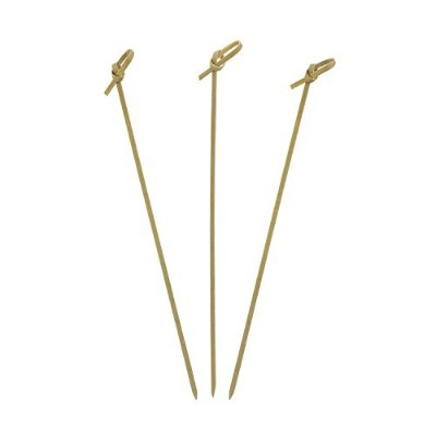 """Royal Bamboo Knot Cocktail and Hors' D'oeuvre Picks, 7"""", Brown, Package of 100"""
