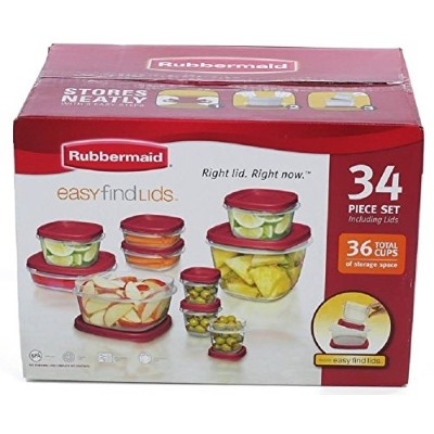 Rubbermaid Easy to Find 34 Piece Storage Containers Set by Rubbermaid