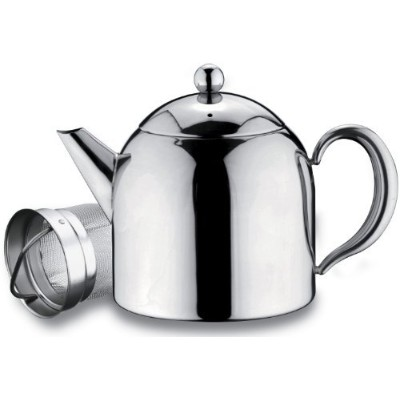 Grunwerg Belmont Deluxe 18/10 Stainless Steel Teapot With Infuser Mirror Finish 1480ml - HT-050X