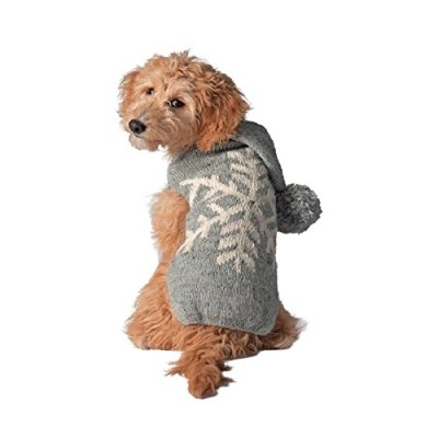 Chilly Dog Alpaca Snowflake Sweater for Dogs, Medium, Grey 141[並行輸入]