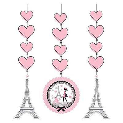 (6) - Party in Paris Hanging Cutouts (6 Count)