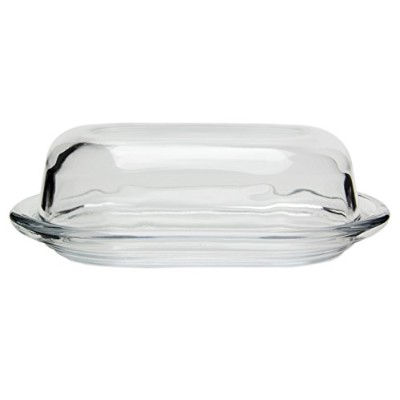 Traditional Glass Butter and Cheese Dish by Red Co.