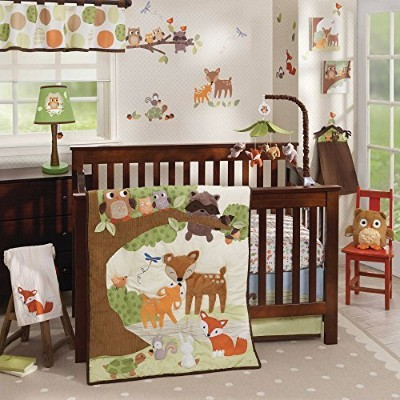 Woodland Tales 4 Piece Baby Crib Bedding Set by Lambs & Ivy by Lambs & Ivy
