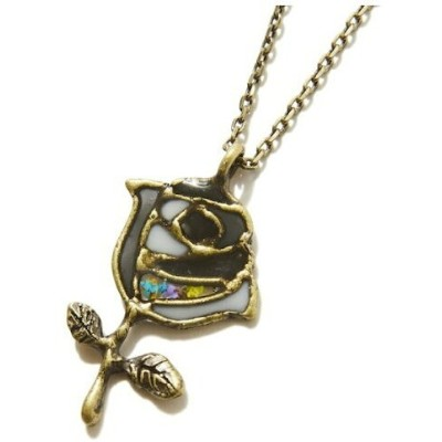 rehacer rehacer:Stained glass Rose Neckl レアセル アクセサリー ネックレス ゴールド シルバー
