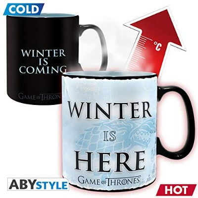 ABYstyle Abysse Corp_ABYMUG445ゲーム・オブ・スローンズ - マグヒートチェンジ-460 Ml-ウィンター・イズ・ヒア - ボックスX2