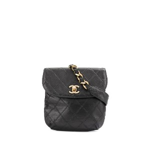 Chanel Pre-Owned Cosmos Line ベルトバッグ - ブラック