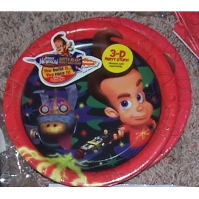 Jimmy Neutron Birthday Cake Plates