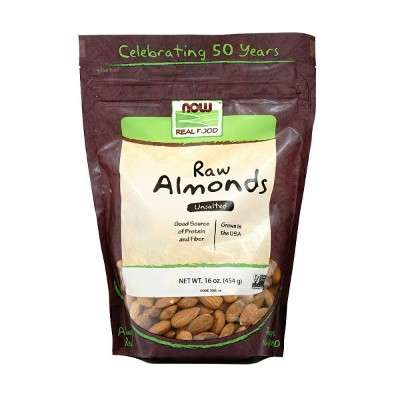【NOW Foods公式ストア】 ナウフーズ リアルフード 生アーモンド 無塩 454g 【NOW Foods】Raw Almonds, Unsalted 16 oz