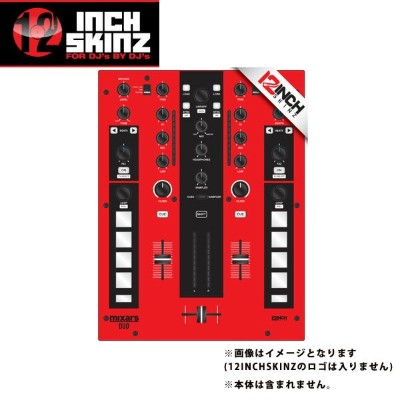12inch SKINZ / Mixars DUO Skinz (RED/BLACK) 【DUO 用スキン】
