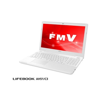 FMVA51C3W2 富士通 15.6型ノートパソコン FMV LIFEBOOK AH51/C3 Core i7 / メモリ 8GB / HDD 1TBMicrosoft Office 2019付属