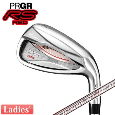 PRGR [プロギア] レディース RS RED 2019 アイアン 5本セット(#7〜9、PW、SW) RS RED専用 Speeder EVOLUTION for PRGR カーボンシャフト