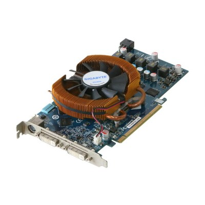 GIGA-BYTE Technology GeForce 9800 GT 1GB DVI *2/TV-out PCI Express x16 GV-N98TOC-1GH【中古】