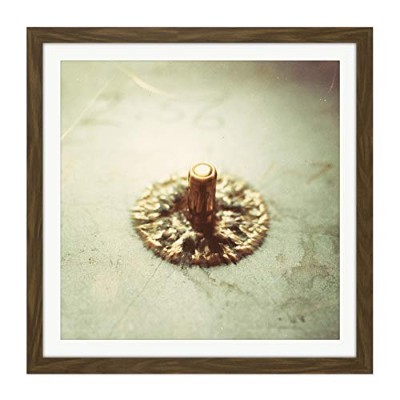 Bullet Impact Ceramic Armor High Speed Photo Square Wooden Framed Wall Art Print Picture 16X16 Inch...