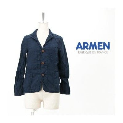 ARMEN アーメン レディース LINEN WORK JACKET[NAM1452LP]【SS】