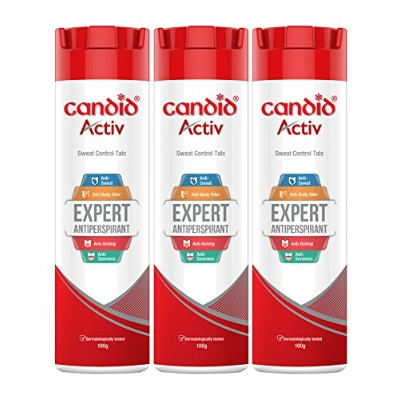 Candid Activ Sweat Control Talc - 100 g (Pack of 3)
