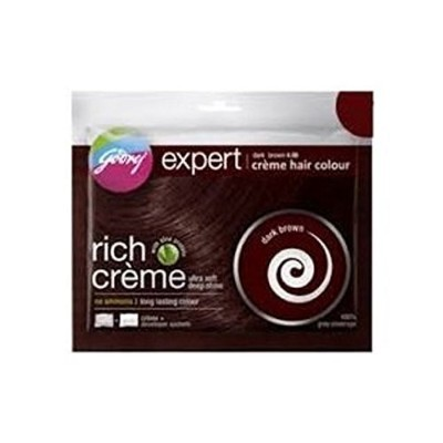 Godrej Expert Rich Creme Hair Colour Dark (Pack Of 5) Brown (Ship From India)