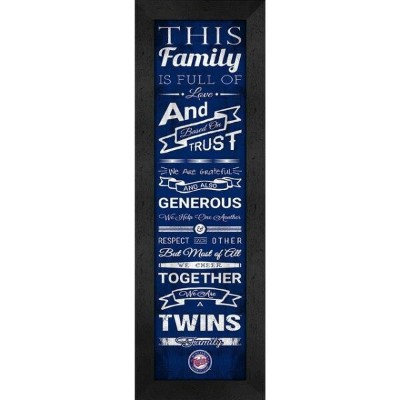Minnesota Twins Family Cheer Framed Print ユニセックス